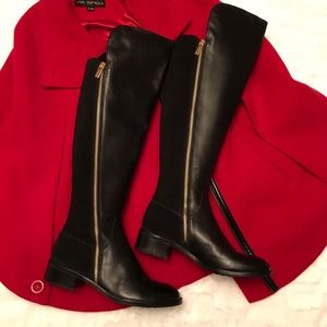 Michael Kors Bromley knee high leather boots